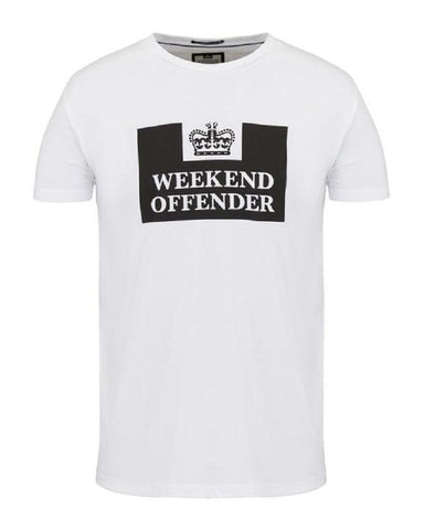 Weekend Offender T Shirt PRISON White