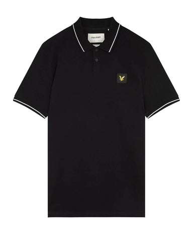 Lyle and Scott Casuals TIPPED POLO SHIRT Jet Black