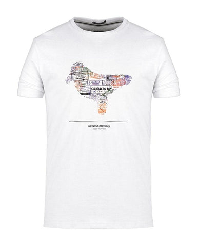 Weekend Offender T Shirt STAMPS White