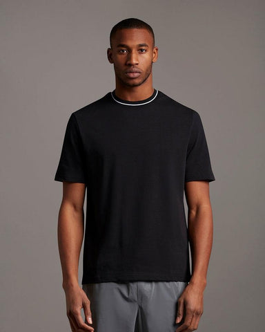 Lyle and Scott TIPPED T SHIRT Jet Black