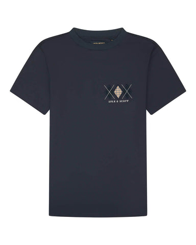 Lyle and Scott Archive DIAMOND APPLIQUE T SHIRT Dark Navy