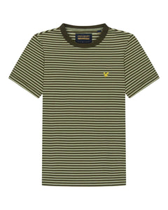 Lyle and Scott Archive STRIPE T SHIRT Moss