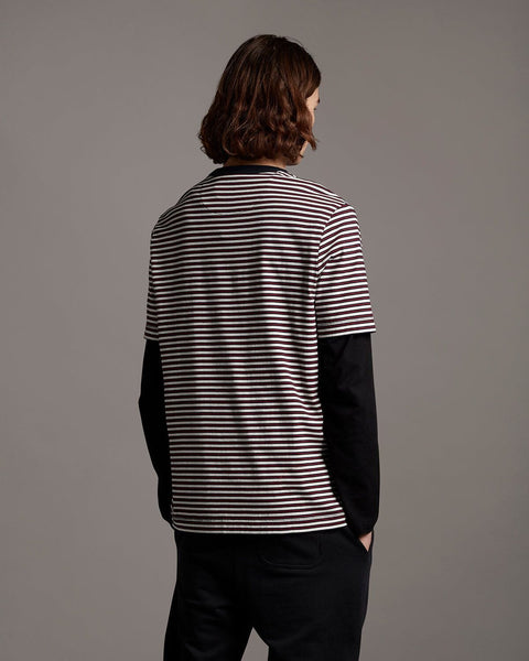 Lyle and Scott Archive STRIPE T SHIRT Navy