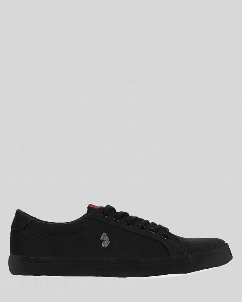 Luke Trainers ARNIE Black Canvas
