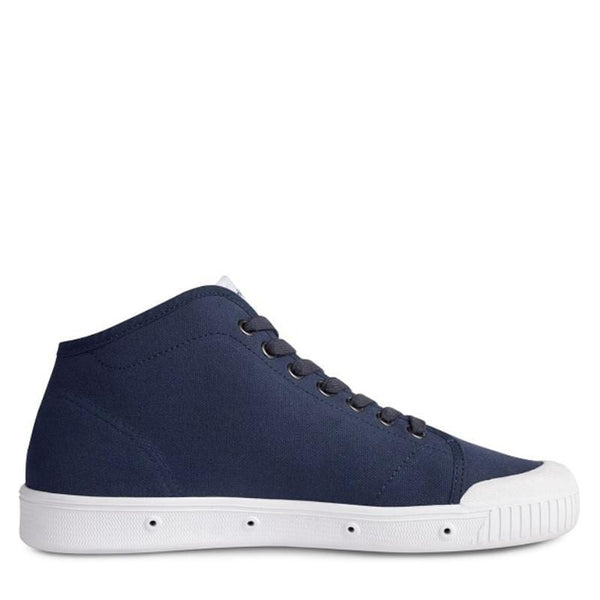 Spring Court Classic B2 Canvas Mens Trainers Midnight Blue - indi menswear