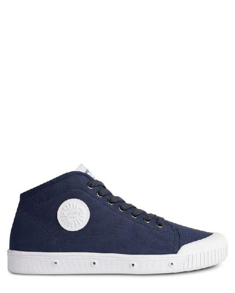 Spring Court Classic B2 Canvas Mens Trainers Midnight Blue