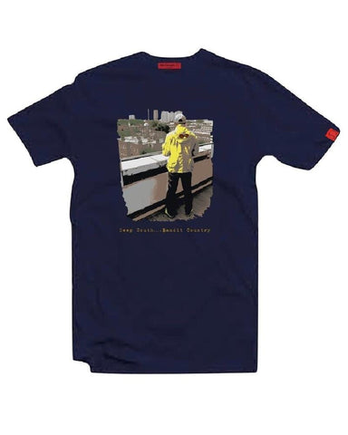Eighties Casuals T Shirt Deep South-Bandit Country Navy