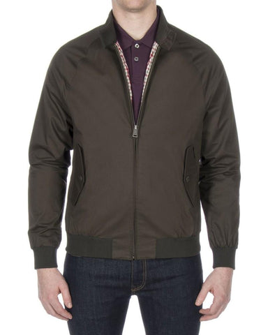 Ben Sherman Harrington Jacket Peat Green - indi menswear