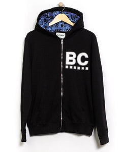 Best Company Zip Through Hoodie Black