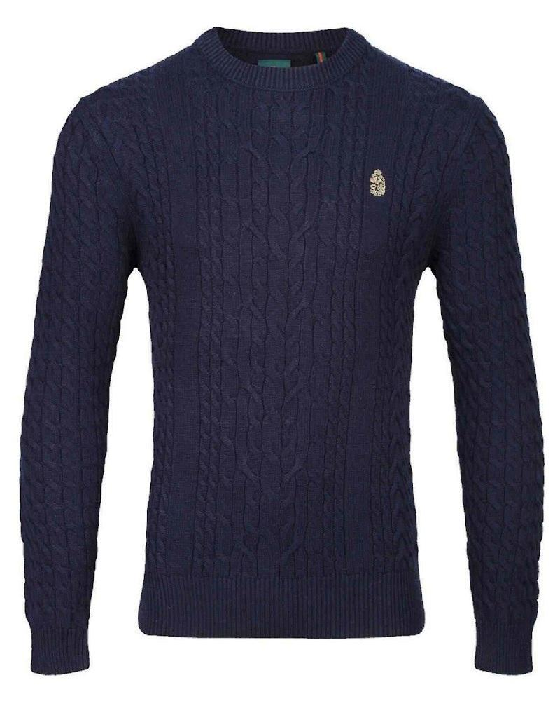 Luke Sport CARTER JOHNSON Cable Knit Dark Navy