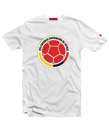 Eighties Casuals T Shirt Federacion-Colombia White