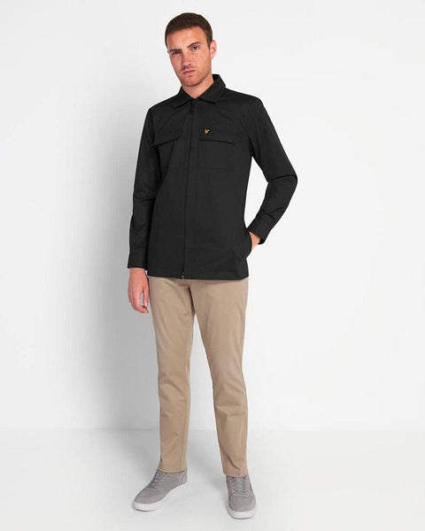 Lyle and Scott Cord Zip-Through Overshirt Jet Black