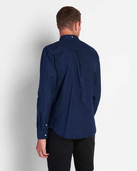 Lyle and Scott Denim Shirt Indigo Blue