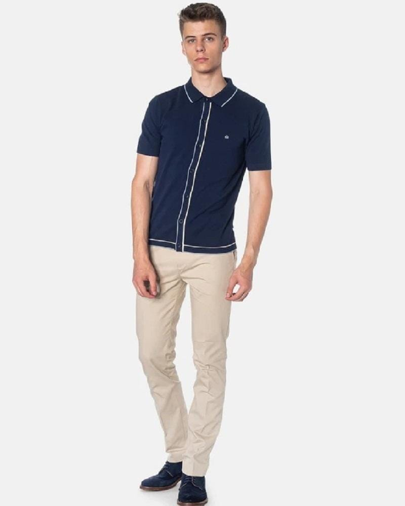 Merc London DEVON Polo Knit Navy