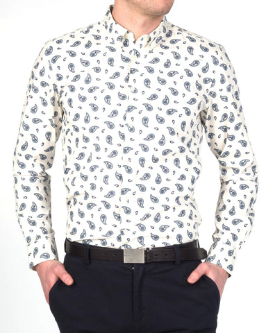 Merc ENDELL Paisley Shirt Off White