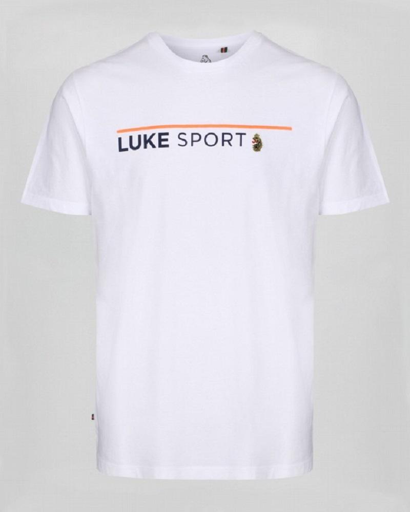 Luke FREEDOM Embroidery T Shirt White