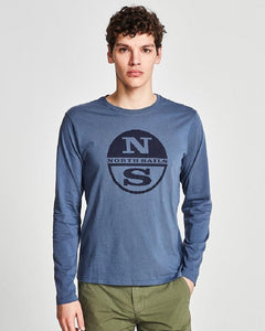 North Sails Graphic T Shirt Vintage Indigo