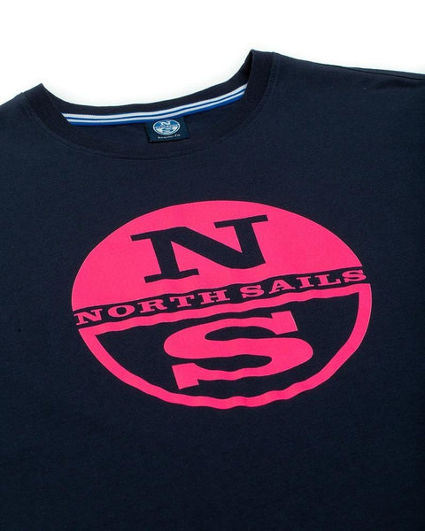 North Sails Graphic T Shirt Navy/Pink