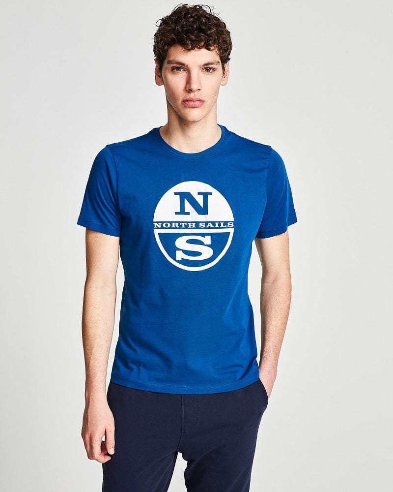 North Sails Graphic T Shirt Ocean Blue