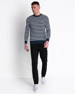 Lyle and Scott Breton Stripe Sweatshirt Dark Navy/White