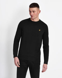 Lyle and Scott Cotton Crew Neck Jumper Dark Navy
