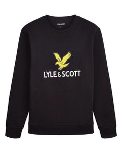 Lyle and Scott Logo Sweatshirt Black - indi menswear