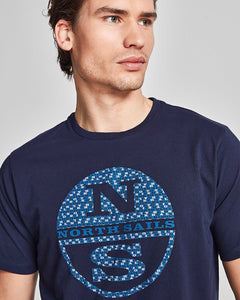 North Sails Graphic Logo T Shirt Navy