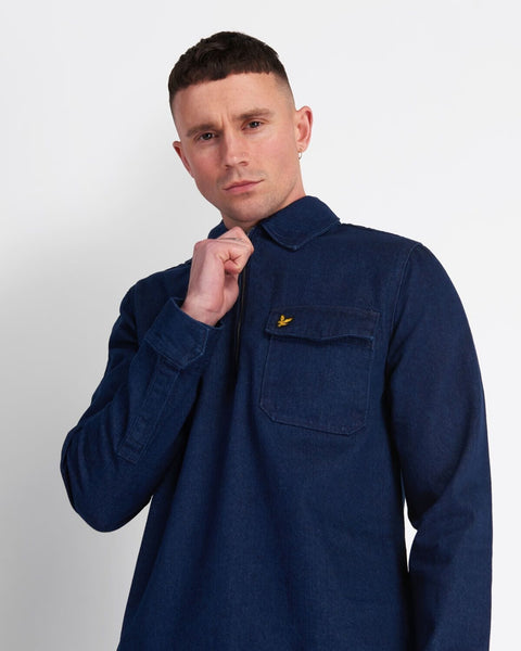 Lyle and Scott Overshirt Indigo Blue