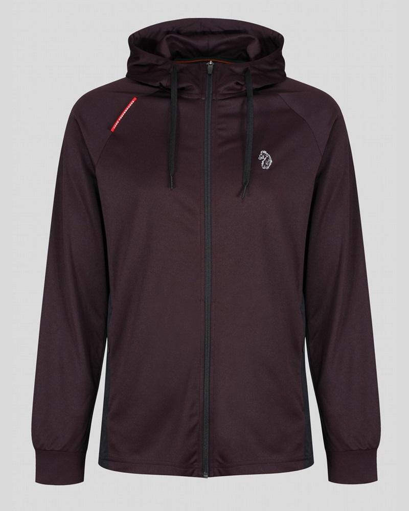 Luke Sport KEY Zip-Through Hoodie in Rioja