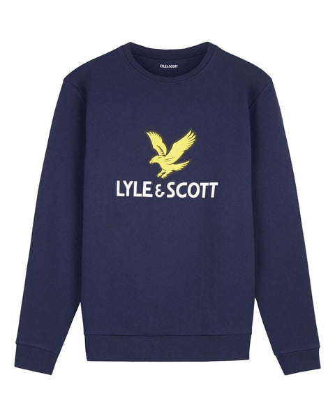 Lyle and Scott Logo Sweatshirt Navy