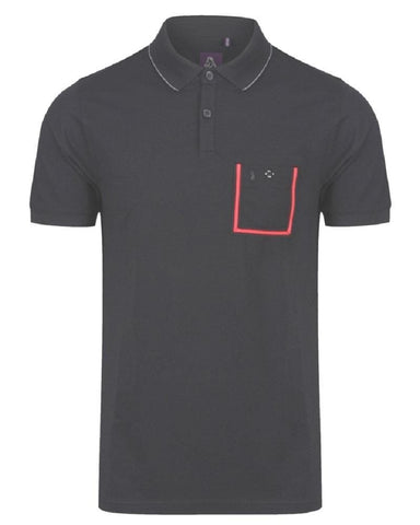 Luke Dr Doloads Tape Pocket Polo Jet Black