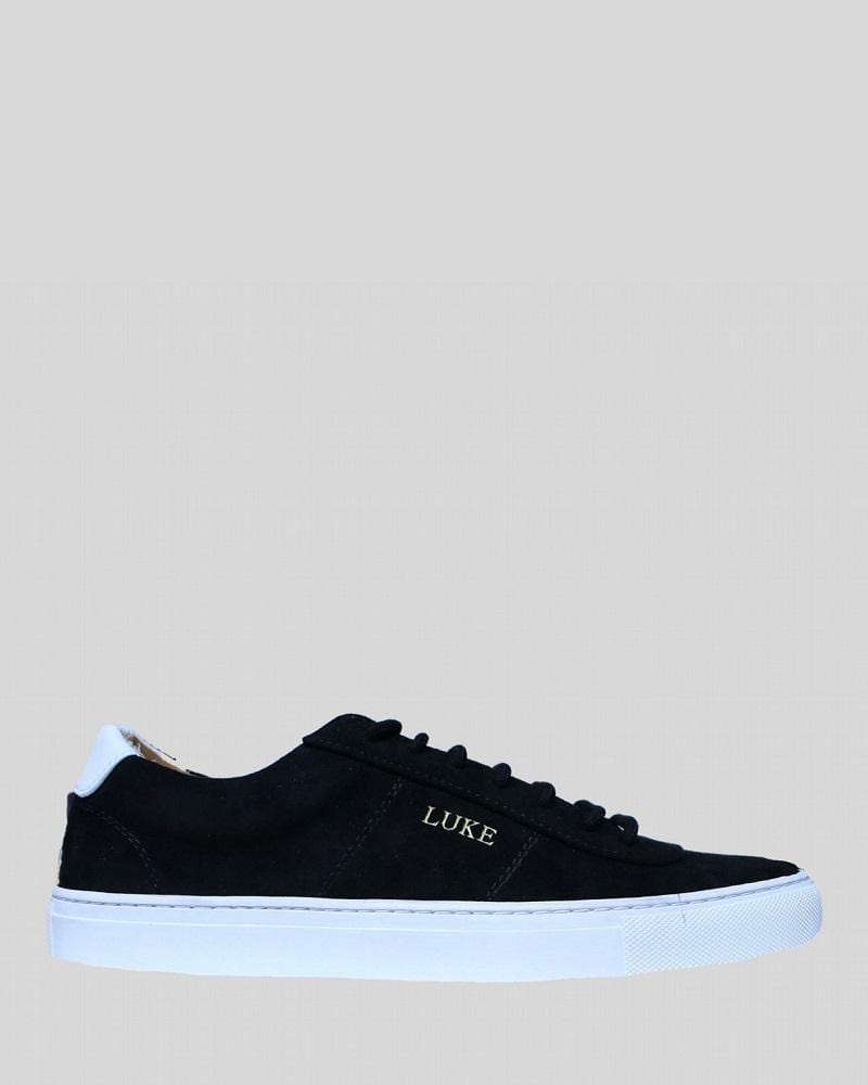 Luke PALM Limited Edition Suede Trainer Black White