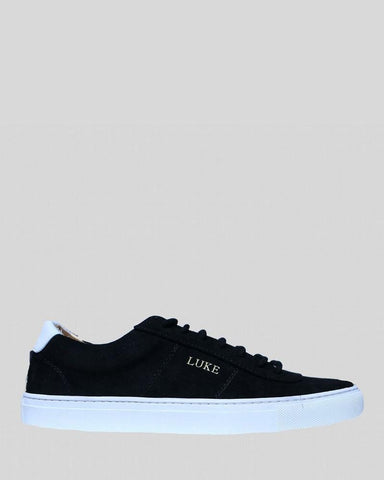 Luke PALM Limited Edition Suede Trainer Black White - indi menswear