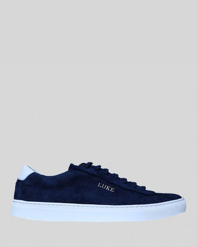 Luke PALM Limited Edition Suede Trainer Navy White