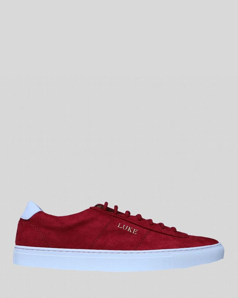 Luke PALM Limited Edition Suede Trainer Red White
