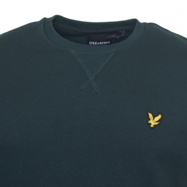 Lyle And Scott Crew Sweat Jade Green