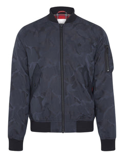Merc Clothing CONSETT Bomber Jacket Dark Navy Camo - indi menswear