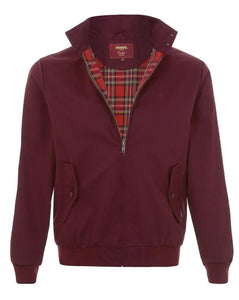 Merc Mod Retro Harrington Jacket Burgundy Wine