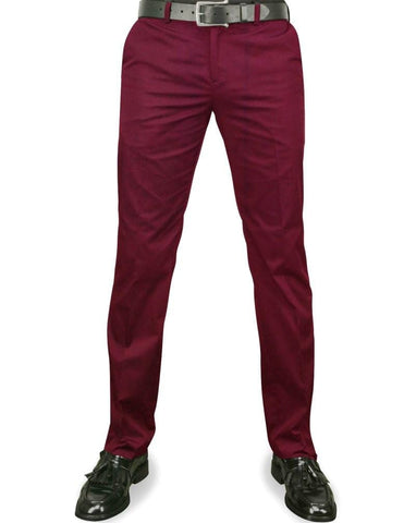 Merc Winston Sta Press Trousers  Wine - indi menswear