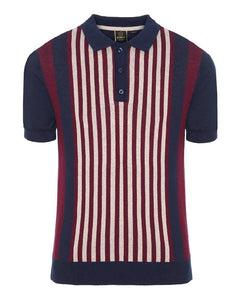 Merc London NORTHBROOK Polo Knit Navy