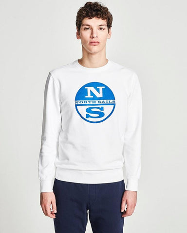 North Sails Organic Cotton Logo Sweatshirt White