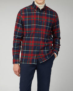 Ben Sherman Oversized Brushed Tartan Shirt