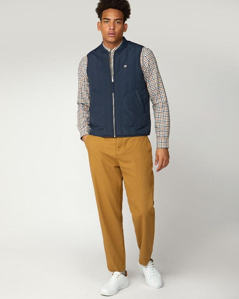 Ben Sherman Quilted Gilet Midnight Blue