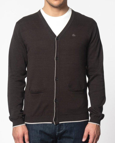 Merc London RYAN Cardigan Dark Navy - indi menswear