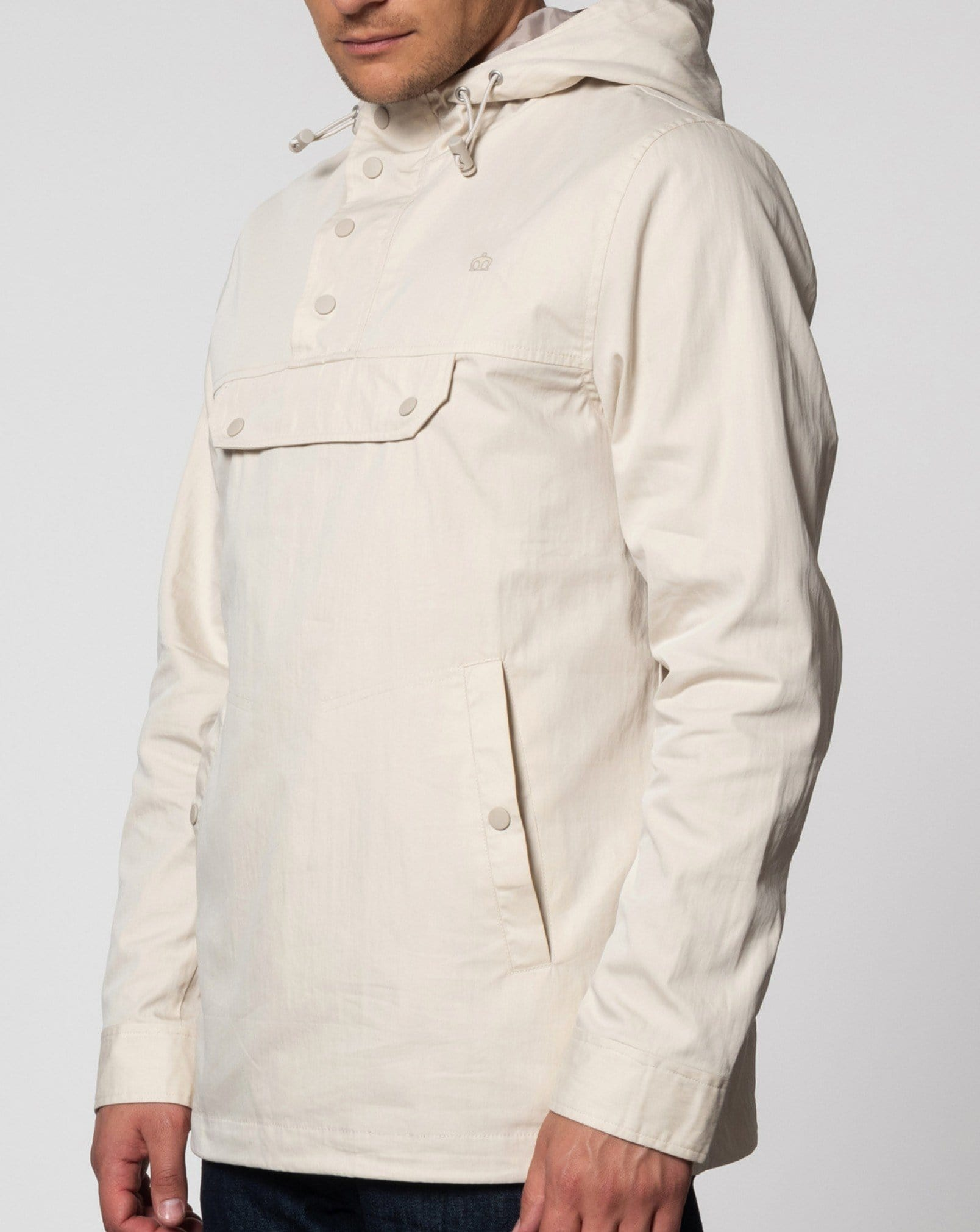 Merc SHIELD Smock Jacket Stone - indi menswear