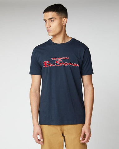 Ben Sherman Signature Logo T Shirt Dark Navy