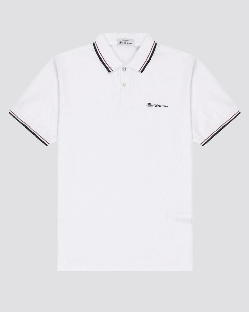 Ben Sherman Signature Polo White