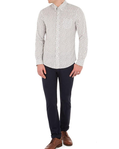 Ben Sherman Slim Stretch Chinos Navy - indi menswear