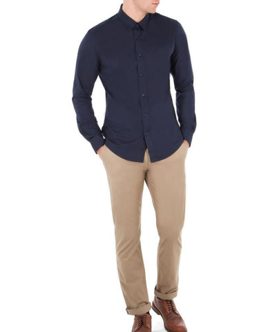 Ben Sherman Slim Stretch Chinos Stone - indi menswear
