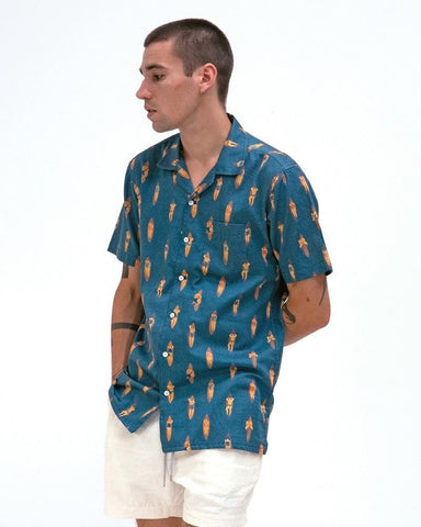 Far Afield STACHIO Shirt Ensign Blue